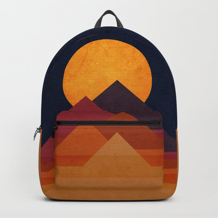 Full moon and pyramid Rucksack