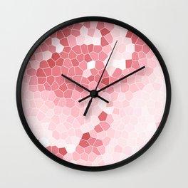 Mosaic Blush Pink Cabbage Abstract Art | Spring Wall Clock