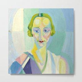 """Robert Delaunay """"Portrait de Madame Heim"""" Metal Print"""