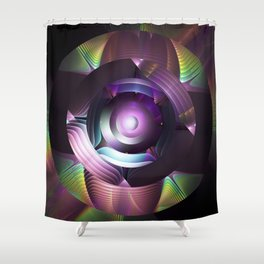 Believe in magic, mixed media abstract Shower Curtain