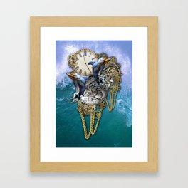 Steampunk Dolphin Time Framed Art Print