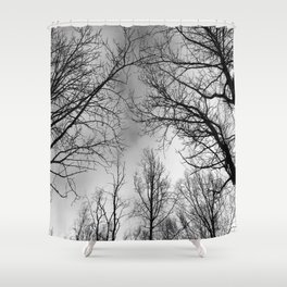 Black and White Canopy Shower Curtain
