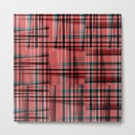 Pattern red 1 Metal Print