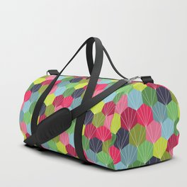 Geometric Hexie Honeycomb Colorful Duffle Bag
