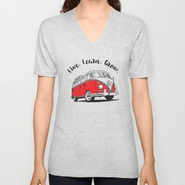 Live, learn, grow. A life van drawing. Unisex V-Neck