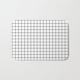 Windowpane White Bath Mat