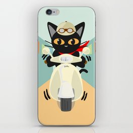 Scooter in the town iPhone Skin