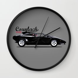 The 84 Countach Wall Clock