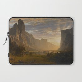 Looking Down Yosemite Valley, California Albert Bierstadt Laptop Sleeve