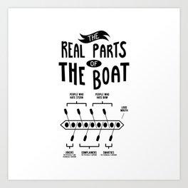 Rowing Rowing Boat Art Print