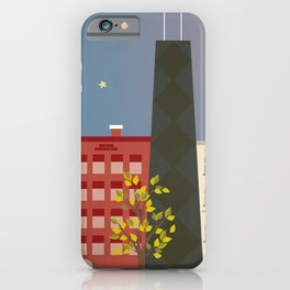 Chicago, Illinois - Skyline Illustration by Loose Petals iPhone Case