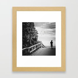 the lonely boy... Framed Art Print