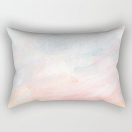 Overwhelm - Pink and Gray Pastel Seascape Rectangular Pillow