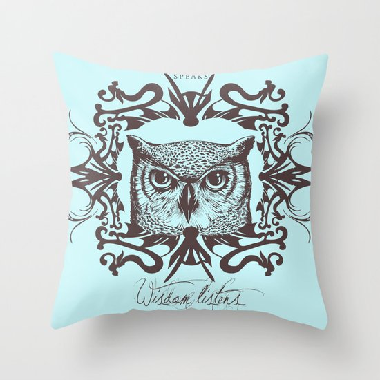 Wisdom Listens Throw Pillow