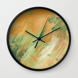 Beautiful Golden Spring Acrylic Textures Wall Clock