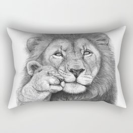 Lion with a baby Rectangular Pillow