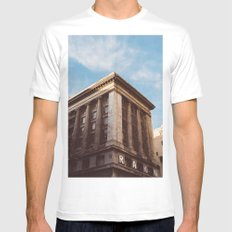 Downtown Los Angeles V Mens Fitted Tee White MEDIUM