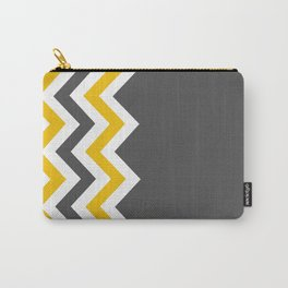 Color Blocked Chevron 14 Carry-All Pouch