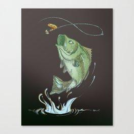 Bass Jumping At Night Canvas Print