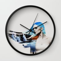 frozen Wall Clocks featuring Frozen by EclipseLio