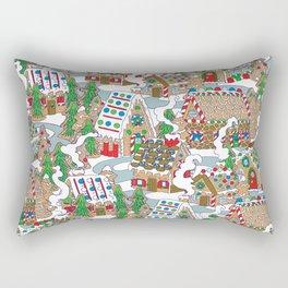 Gingerbread Village Rectangular Pillow