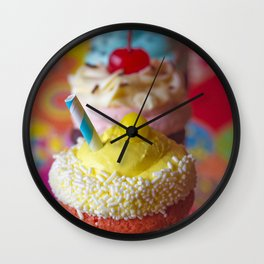 Cirque du Cupcake Wall Clock