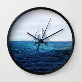 Sailing Ship on the Sea Wall Clock
