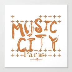 Music City Paris Canvas Print