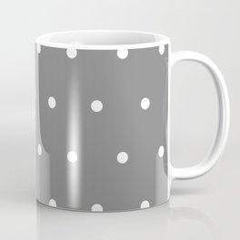 Grey With White Polka Dots Pattern Coffee Mug