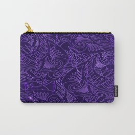 Purple Tapa Carry-All Pouch