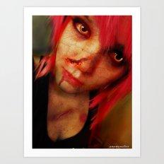 Zombie Ana Art Print