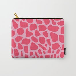 Wild Pink Organic Animal Print Pattern Carry-All Pouch