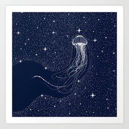 starry jellyfish Art Print