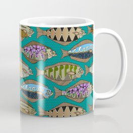 Alaskan halibut teal Coffee Mug
