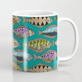Alaskan halibut teal Coffee Mug