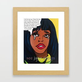 Popping Art Determination Framed Art Print
