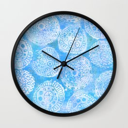 Gelatin Monoprint 22 Wall Clock