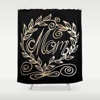 mom Shower Curtains featuring Mom by ArtLovePassion