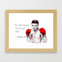 Fly like a butterfly - sting like a bee / ali greatest champion muhammad boxing watercolor passion Framed Art Print