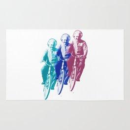 Albert Einstein by bike Rug