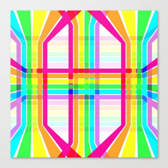 Weaved Rainbow Canvas Print