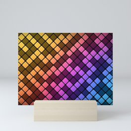 geometric Colors Mini Art Print