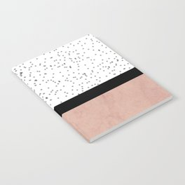 Pink marble and dots Notebook