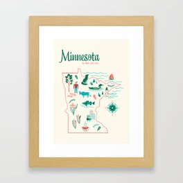 Minnesota State Love Framed Art Print