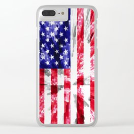 American Flag Extrude Clear iPhone Case