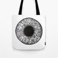 iris Tote Bags featuring Iris by ECMazur