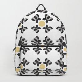 Black and Grey Lotus  Backpack