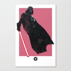 Darth Vader Polygon Mesh Canvas Print