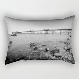 Llandudno Peir Bw Rectangular Pillow