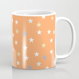 Peach Pastel Background With Stars Coffee Mug